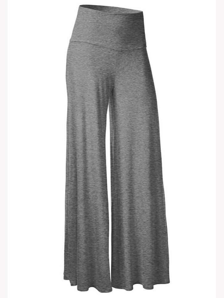Women's Pants Solid Color Wide Leg Pants