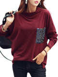 Women's Sweatshirt O Neck Long Sleeve Casual Loose Sweatshirt
