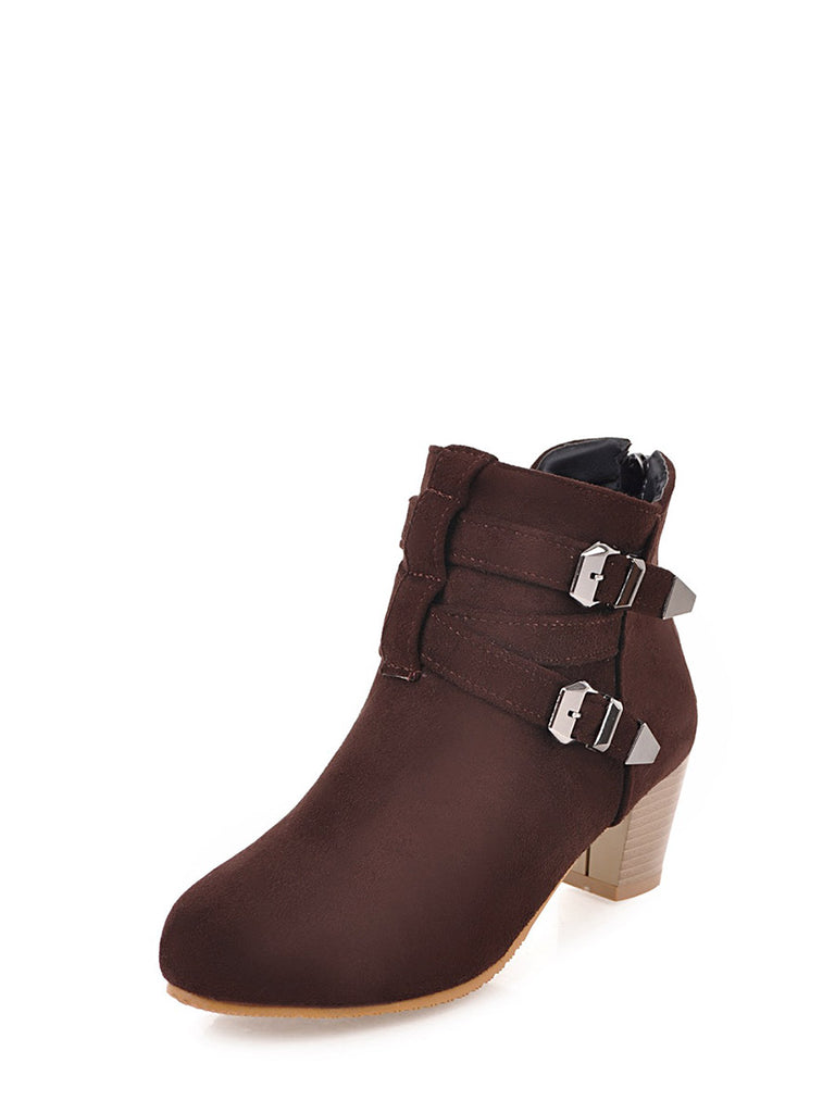 Women's Bottine Square Heels Elegant All Match Fancy Boots