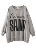 Women's Sweatshirt Loose Letter Pattern Sweatshirt