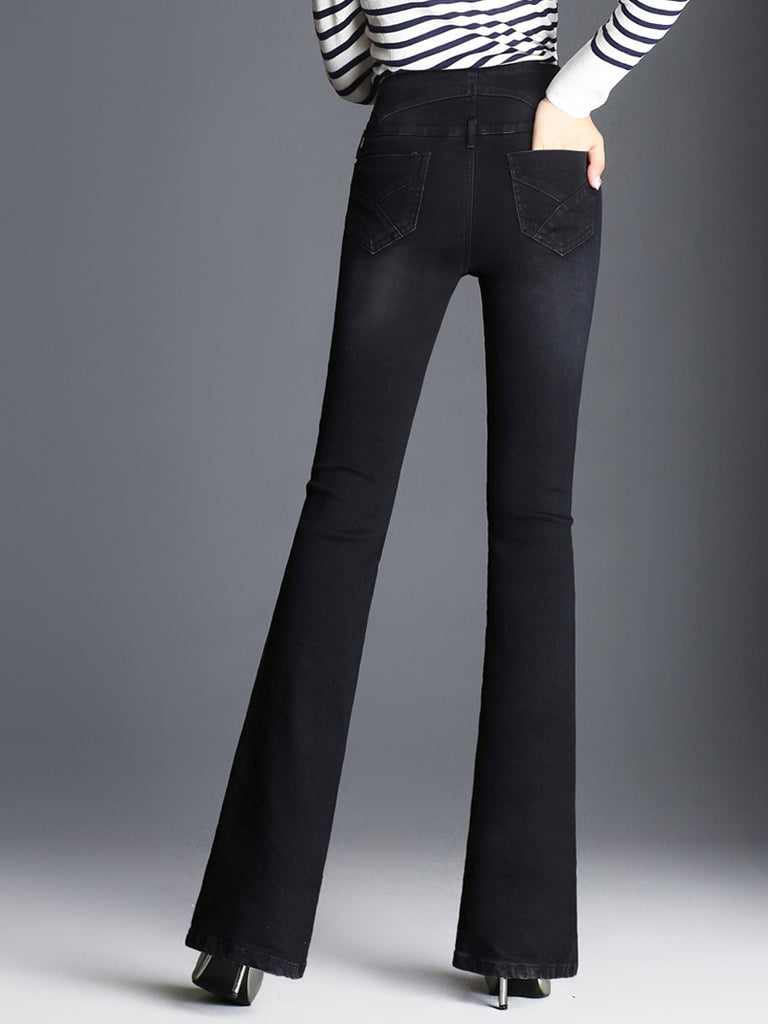 Women's Jeans Solid Color Slim Top Fashion Jeans