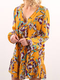 Women's Dress Floral Pattern Long Sleeve Vintage Dress