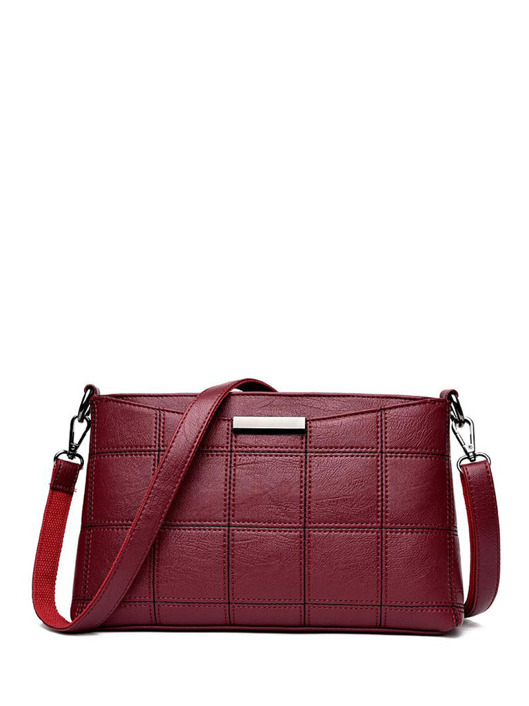 Women's Crossbody Bag Casual Plaid Solid Color Soft Bag