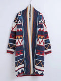 Women's Cardigan Color Block Long Sleeve Casual Cardigan