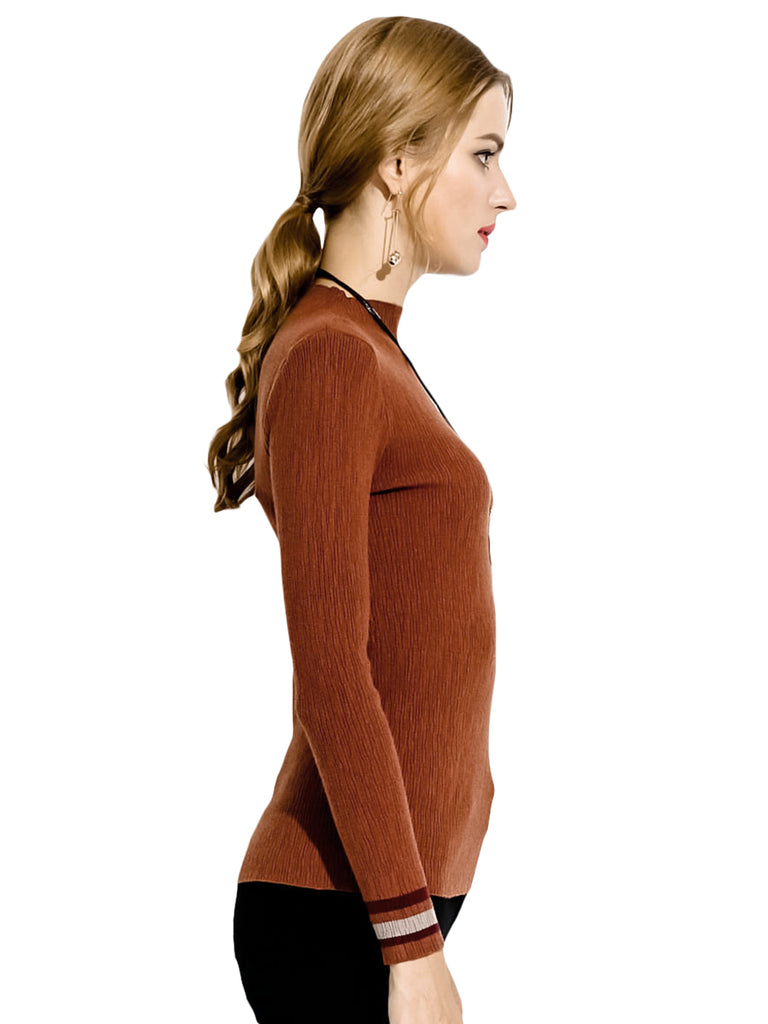 Women's Sweater Long Sleeve Plus Size Slim Pullover