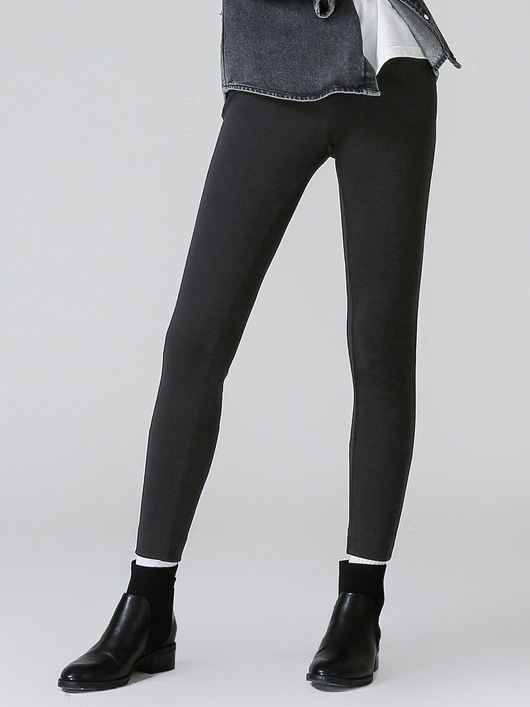 Women's Pants High Waist Solid Skinny Pants