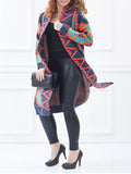 Women's Cardigan Geometric Pattern Color Block Casual Cardigan