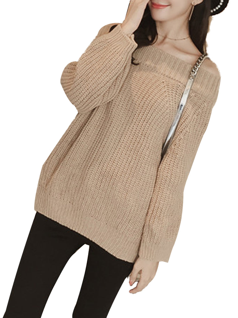 Women's Pullover Long Sleeve Solid Color Casual Loose Knitwear