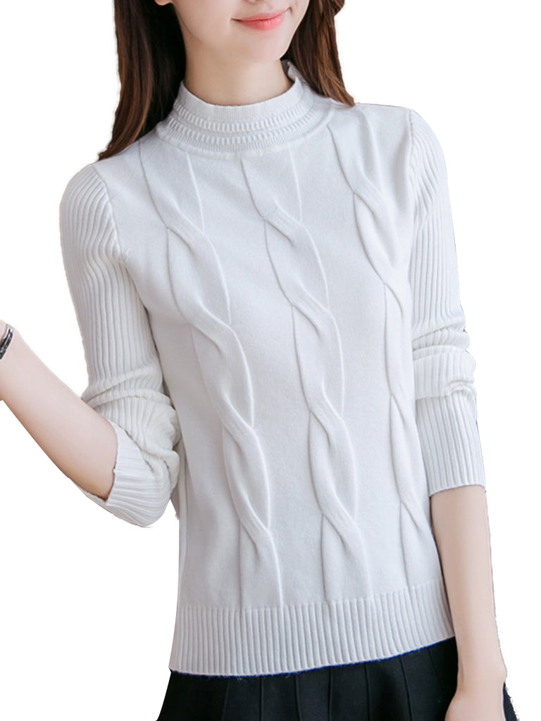 Women's Pullover Long Sleeve Solid Color Simple Style Knitwear