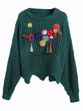 Women's Sweater Long Sleeve Patchwork Color Block Casual Pullover