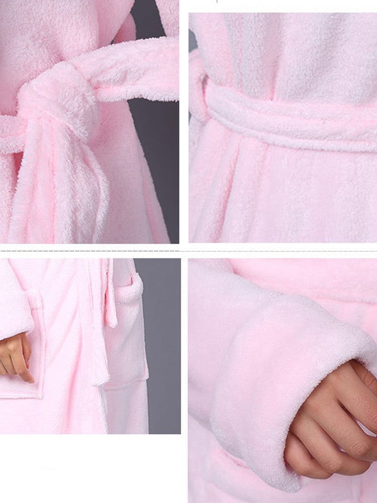 Women's Sleepwear Sweet Cute Cartoon Pattern V Neck Long Sleeve Cozy Robe