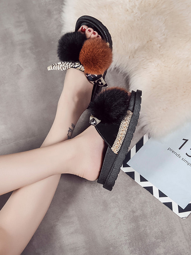 Women's Open Toe Slippers Comfy All Match Bowknot Design Fashion Shoes