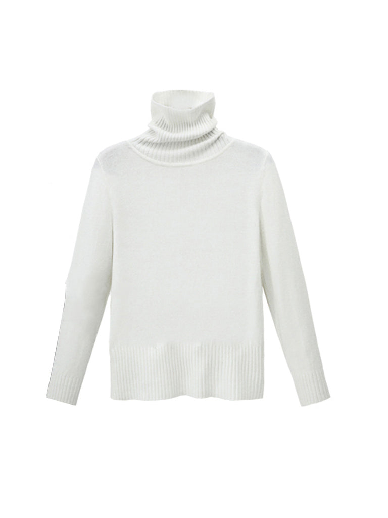 Women's Sweater Turtle Neck Solid Color Slim Kntiwear