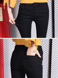 Women's Denim Pants Tassel Patch Flared Jeans