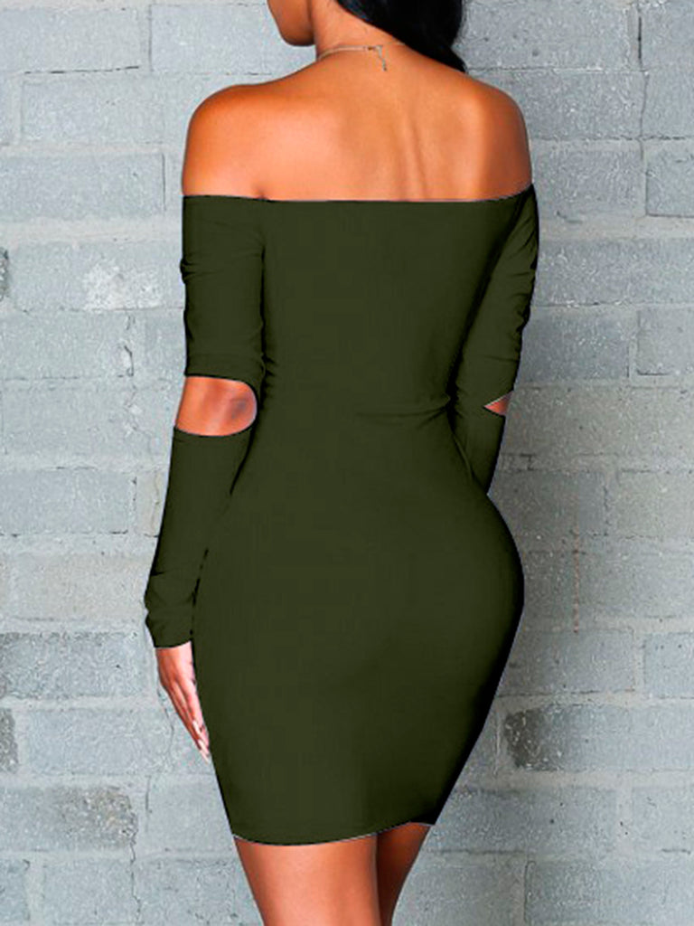 Women's Dress Solid Sexy Hollow Out Backless Dress