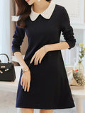 Women's A Line Dress Peter Pan Collar Casual Dres