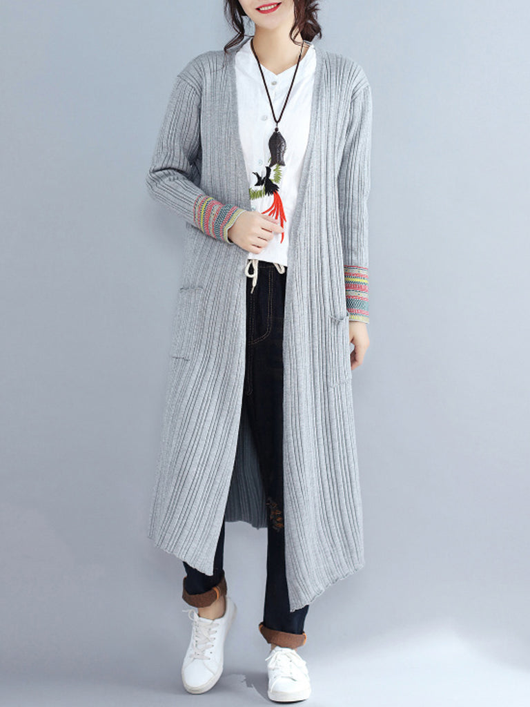 Women's Cardigan Open Front Long Sleeve Loose Long Knitwear