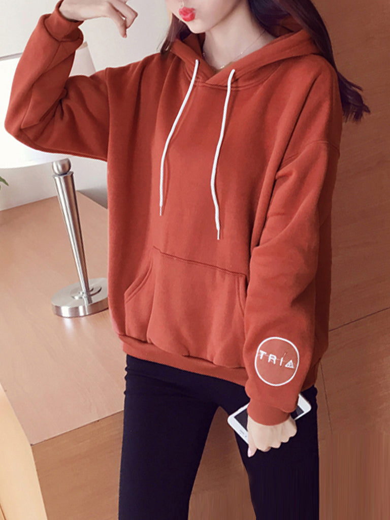 Women's Hoodie Embroidery Design Loose Top