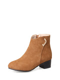 Women's Bottine Solid Color Pointed Toe Thick Heel Chic Women's Boots