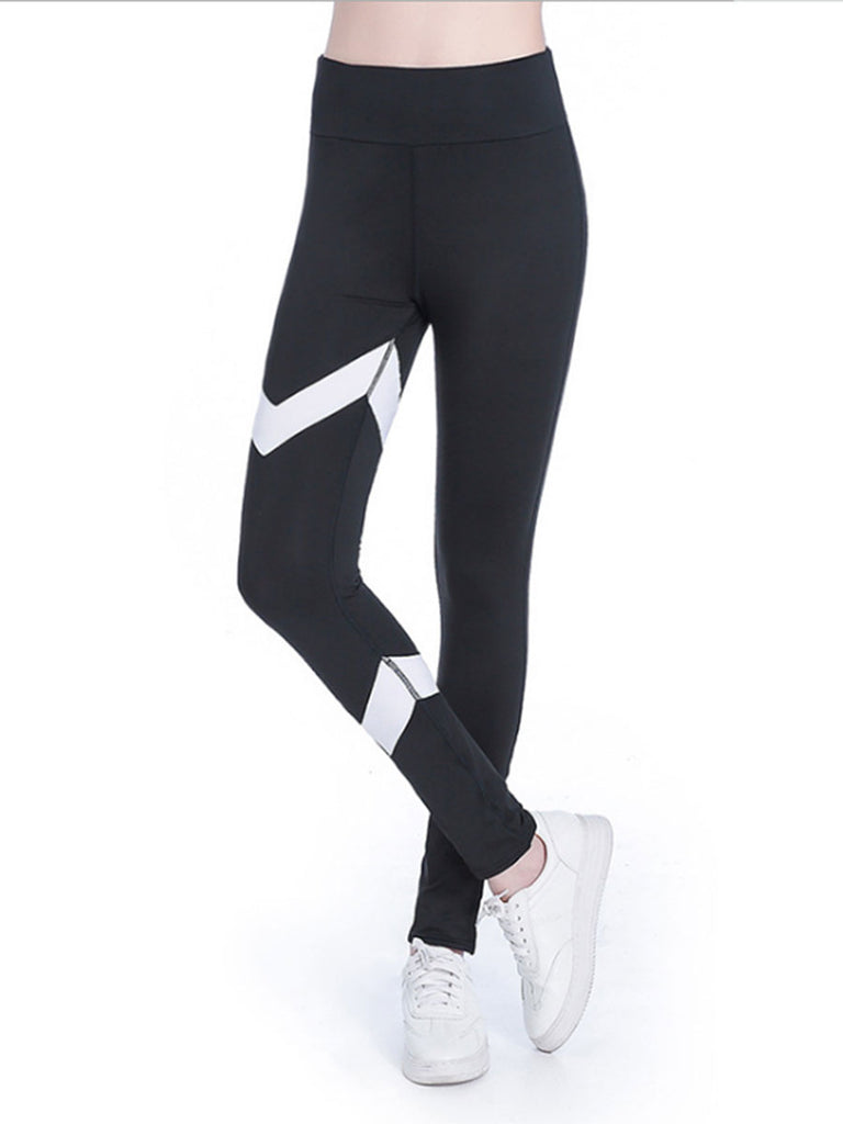 Women's Leggings Color Block Chic Thin Leggings