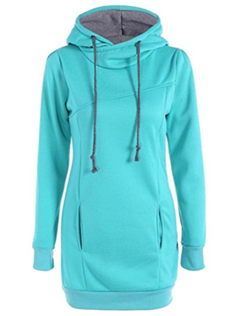 Women's Hoodie Solid Color Slim Cozy Top