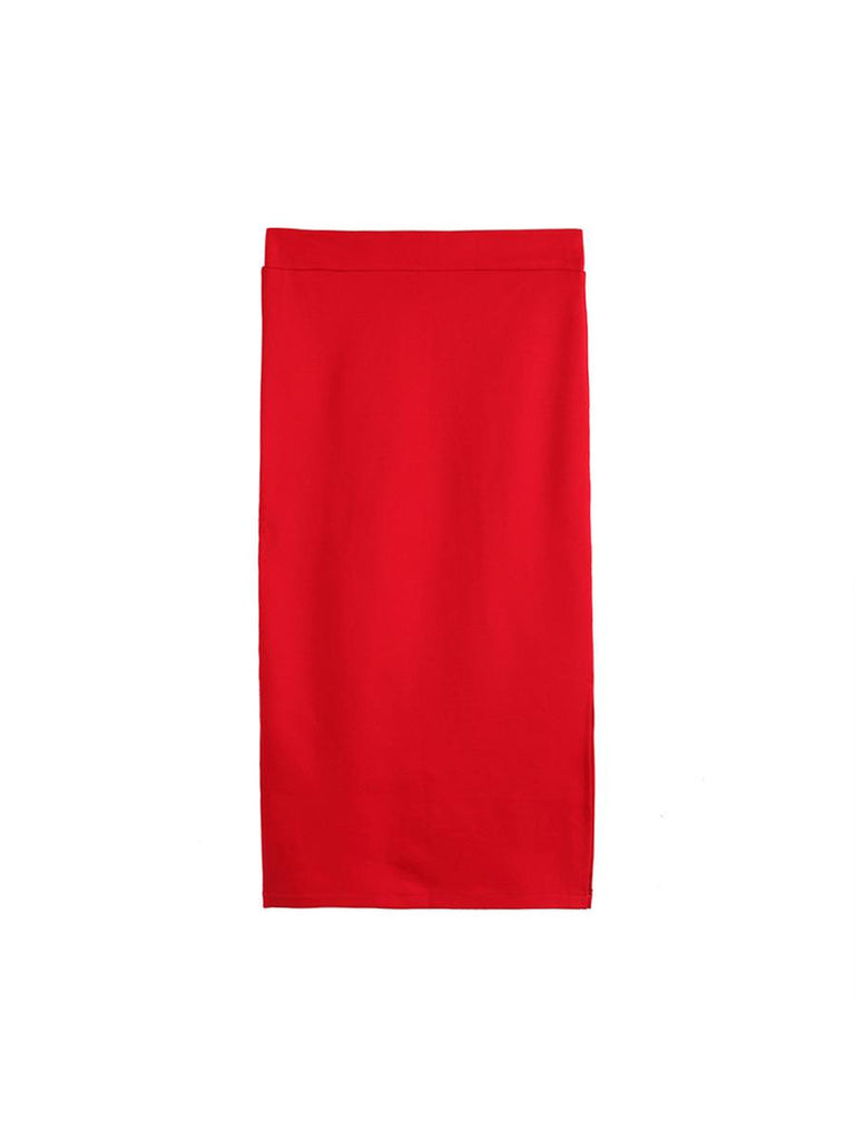 Women's Slim Skirt Fashion Slit Pack Hip High Waist OL Stylish Dress