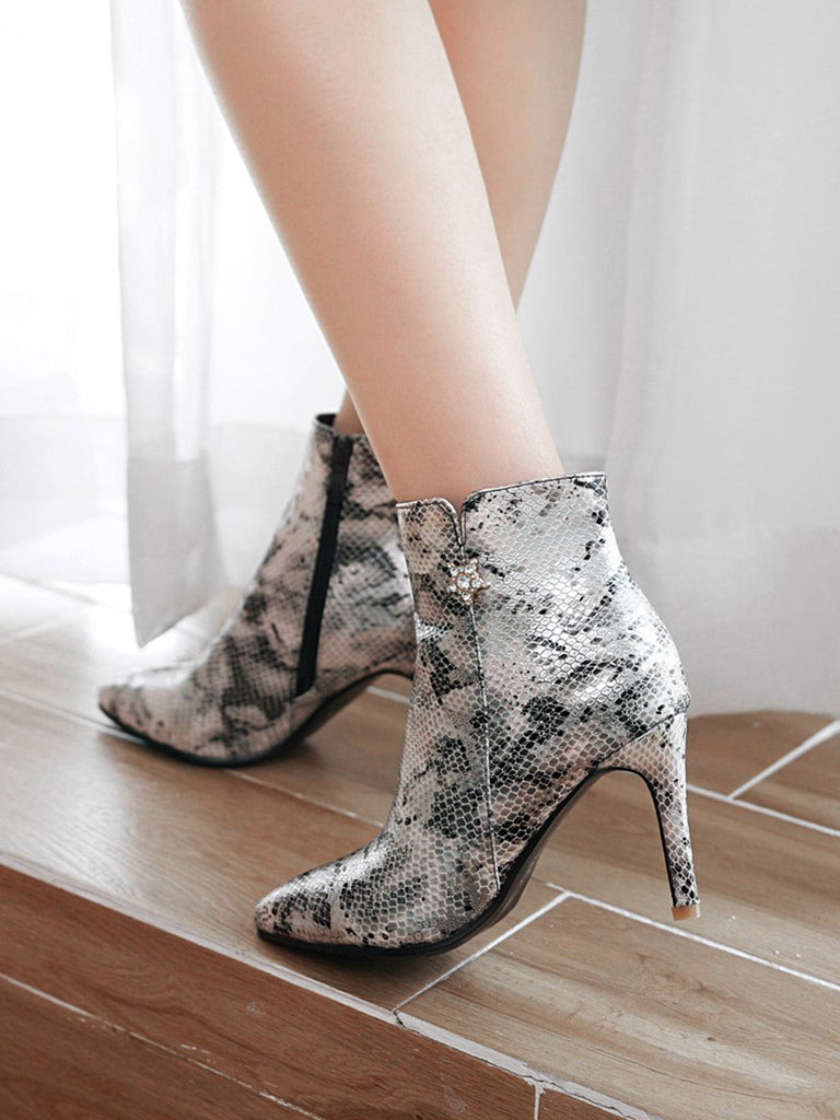 Women's Bottines Stylish Vintage Thin Heel All Match Chic Women's Shoes