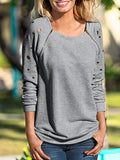Women's Sweatshirt Solid Color O Neck Long Sleeve Casual Sweatshirt