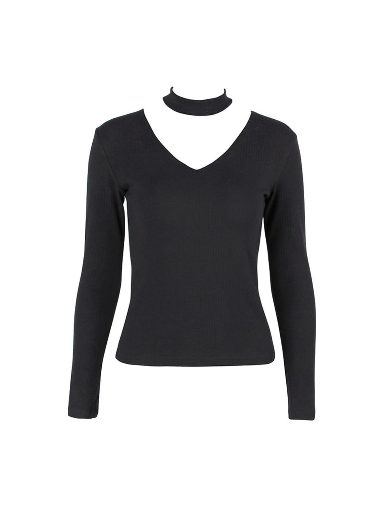 Women's Pullover V Neck Long Sleeve All Match Skinny Sweater