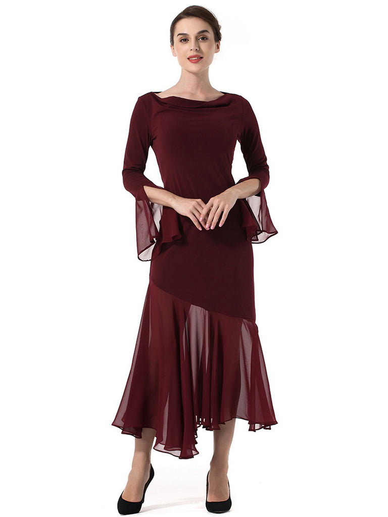 Women's Dress Solid Color Patchwork Casual Dress