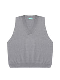 Women's Sweater Solid Color Sleeveless Casual Knitwear