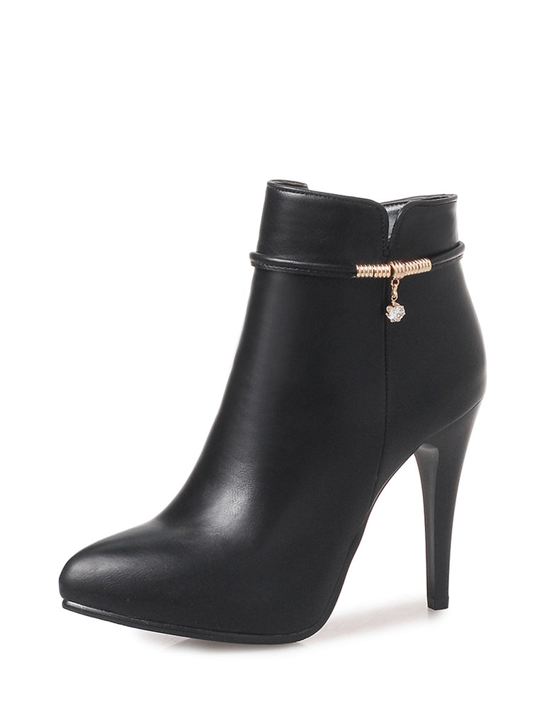 Women's High-Heeled Ankle Boots Pointed Toe Boots