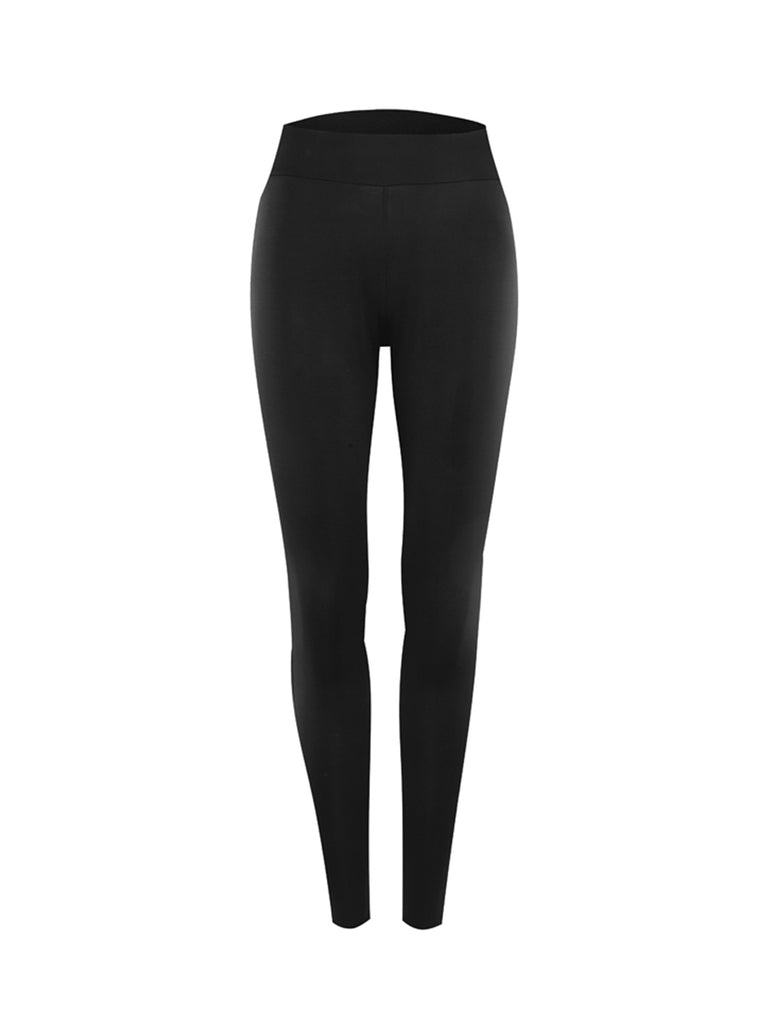 Women's Leggings Solid Color High Waisted Skinny Leggings