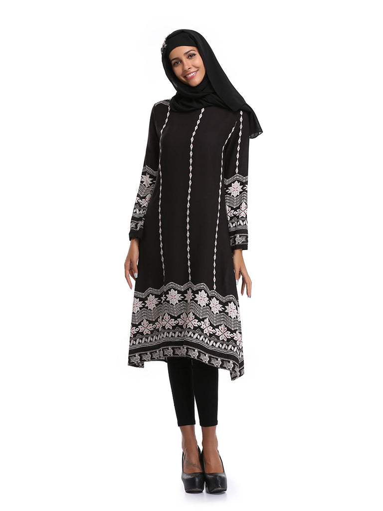 Women's Kaftan Dress Long Sleeve Ethnic Kaftan Dress