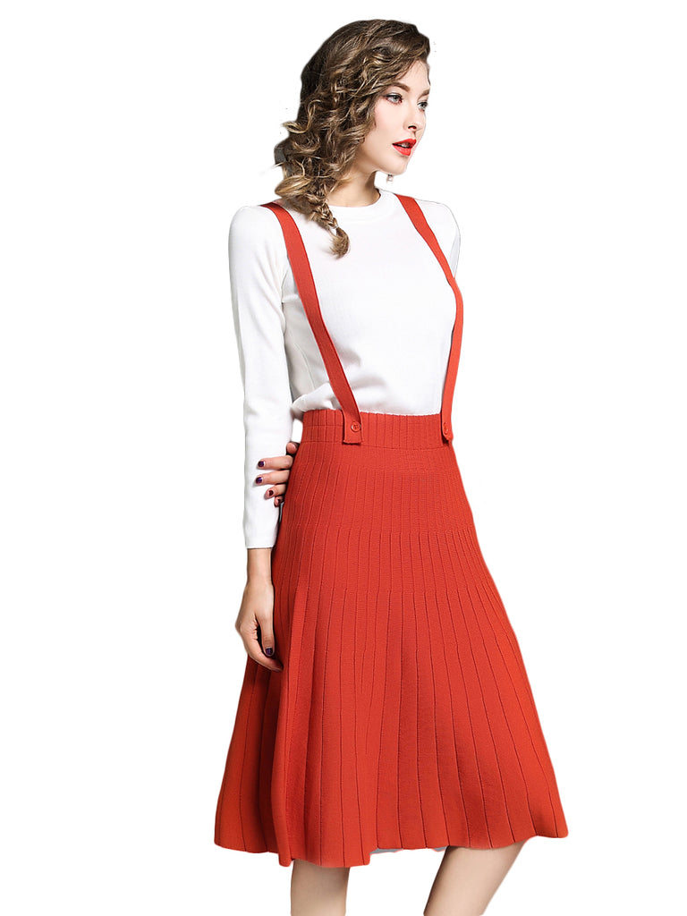 Women's Skirt Suits O Neck Top Aline Skirt Suits