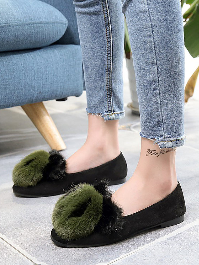 Women's Flats All Match Closed Toe Lovely Cartoon Decor Casual Shoes
