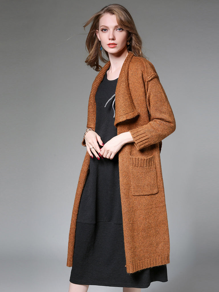 Women's Cardigan Solid Color Casual Knitwear