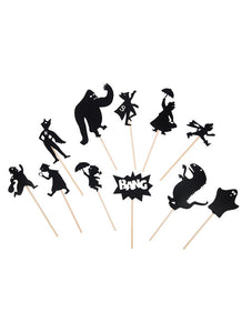 Shadow puppets set - Heroes