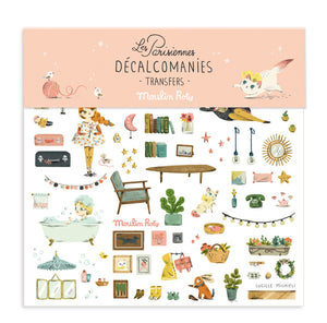 Transfers/Decalcomanies with les Parisiennes