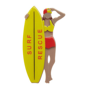 Surf Rescue Brooch