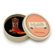Boot scootin' Brooch