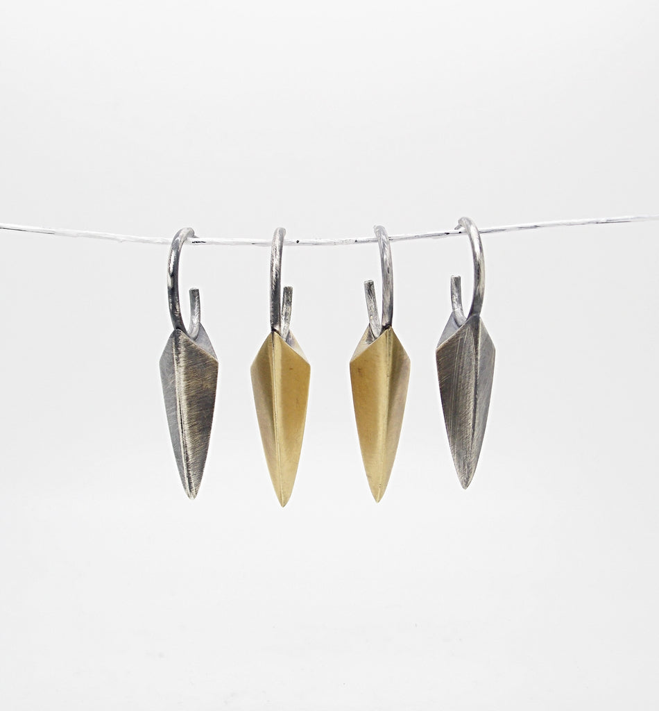 Dagger Shield Dangling Earring - Sasha Walsh Designs