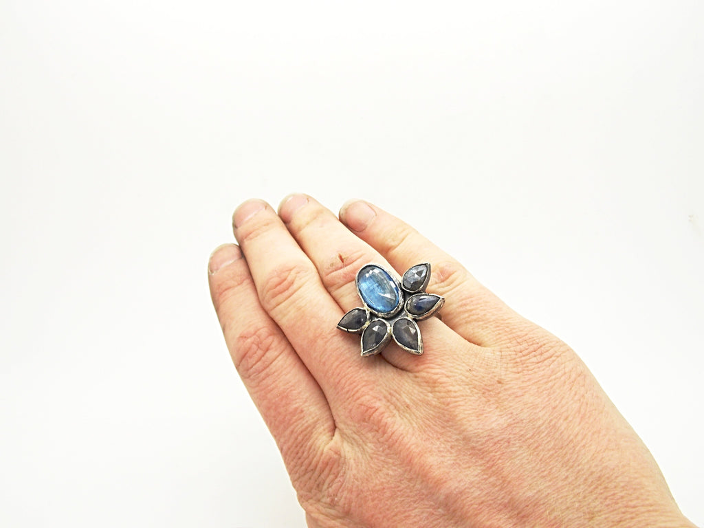 Lotus Cluster Ring - Sasha Walsh Designs