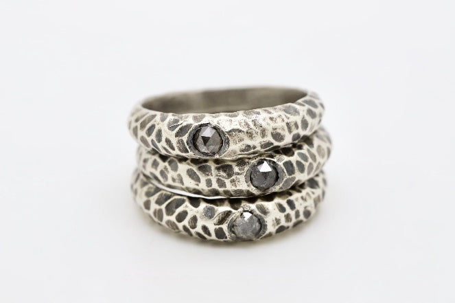 Diamond Gravel Ring - Sasha Walsh Designs