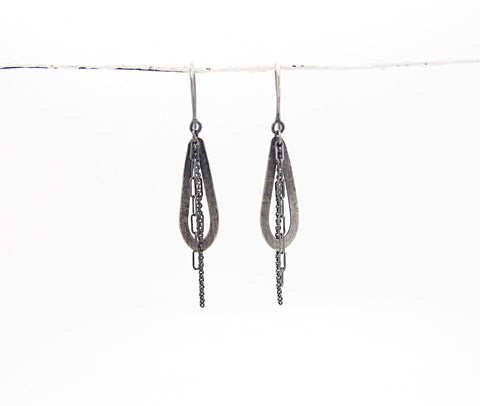 Mini  Hoop & Chain Earring - Sasha Walsh Designs