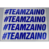 Zaino #TEAMZAINO Royal Blue Sequin Cut Vinyl Sticker - Various Sizes