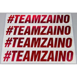 Zaino #TEAMZAINO Red Sequin Cut Vinyl Sticker - Various Sizes