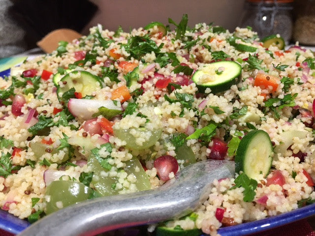 Zingy Couscous Salad with Pomegranate
