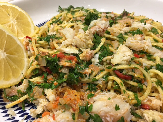 Absolutely Cracking Crab and Chile Linguine