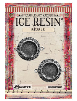 ICE Resin® Milan Bezels: Antique Silver Small Circle, 2pcs.